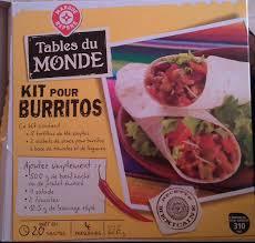 kit cuisine du monde kit pour burritos tables du monde 620 g