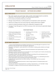 alluring resume templates for software project manager in resume