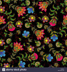 seamless vector pattern with beautiful colourful flowers on the