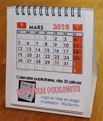 chevalet de bureau calendriers publicitaires imprimés de bureau chevalet