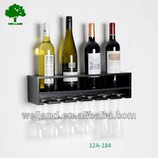 floating black wine rack display wall mount accent room design