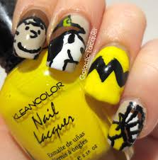 galactic lacquer thanksgiving nail art challenge charlie brown
