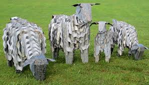 corrugated iron animals sheep corrugated iron goat pig