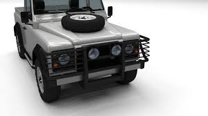 land rover defender 90 interior land rover defender 90 pick up w interior 3d model obj fbx stl