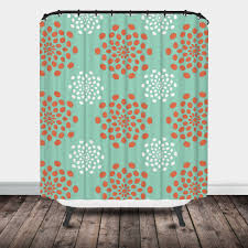 Orange Shower Curtains Chevron Ikat Shower Curtain