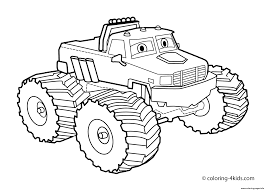 bigfoot king of the monster trucks easy bigfoot monster truck coloring pages printable