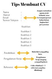 Sample Resume Yang Terbaik by Pakai Tips Jitu Menulis Cv Pasti Diterima Kerja Jobstreet Indonesia