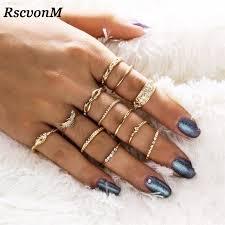 knuckle finger rings images Rscvonm 12 pc set charm gold color midi finger ring set for women jpg