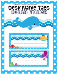 Desk Name Tags by Ocean Themed Desk Name Tags Ocean Themed Classroom Work