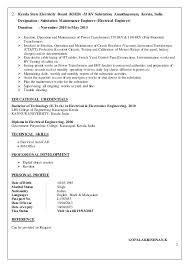 Example Resume For Maintenance Technician Sample Electrical Resume U2013 Topshoppingnetwork Com