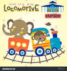 vacation train vector cartoon illustration stock vector 660096958