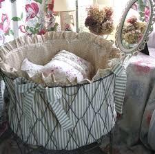 vintage wire laundry basket shabby chic u2014 sierra laundry