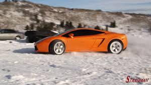 nissan 370z in snow lambo in the snow the awesomer