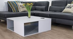 Grey Wood Coffee Table Square White Oak Large Coffee Table Modern Grey Oak Uk