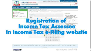 how to register an account in income tax india e filing website