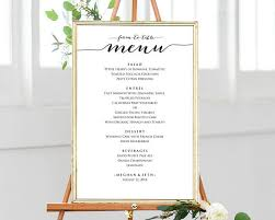editable menu template 12x18 farm to table menu template editable