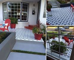 How To Paint Outdoor Concrete Patio Learn How To Stencil A Pretty Patio Stencil Stories
