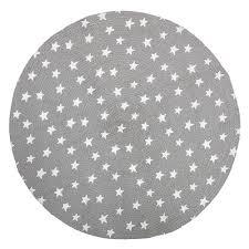 bloomingville kinderzimmer jute teppich sterne grau weiß ø 100cm - Kinderzimmer Teppich Rund