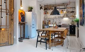 cuisine ambiance bistrot deco cuisine bistrot luxe une cuisine bleue au style industriel chic