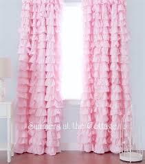 Baby Pink Curtains Chic Ruffles Drape Set Baby Pink Ruffled Curtain Drapes