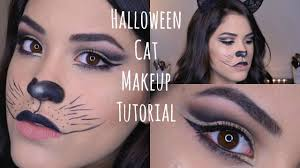 basic cat halloween makeup tutorial youtube