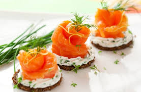 rye bread canapes smoked salmon roses on rye toasts recipe goodtoknow