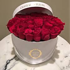 boxed roses signature box chateau des fleurs collection