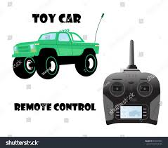 remote control bigfoot monster truck vector cartoon illustration toy car monster stock vector 533947807