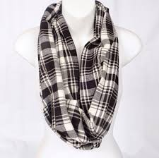 flannel menzies dress tartan plaid infinity scarf handmade