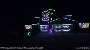 halloween laser light show halloween light show 2015 the awesomer