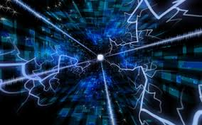Light Cyber Abstract Energy Bolt Cyber Digital Art Light Beams High Quality