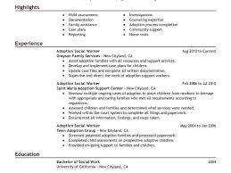 examples of social work resumes lukex co