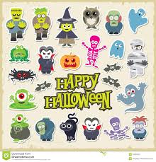 halloween character set stock photography image 33350522