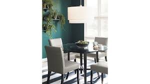 crate and barrel marble dining table amazing halo ebony round dining table with 60 glass top crate and