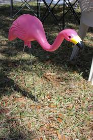 and possibly antique lawn ornaments pink flamingos