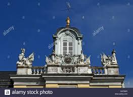 Karlsruhe Baden Uhrturm Des Seitenflügels Des Schloss Schloss Karlsruhe 1715