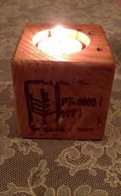A Candle Holder Pallet Cube Into Candle Holder