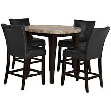 Round Dining Room Tables For 4 by Monark Round Marble High Dining Table
