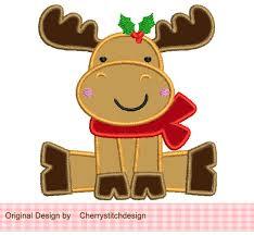 christmas applique christmas reindeer machine embroidery applique design 4x4 5x5 6x6
