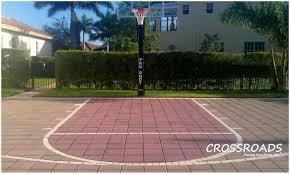 backyards stupendous 45 diy outside basketball court outstanding