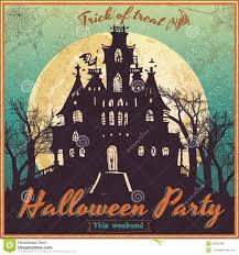 old fashioned halloween background vintage poster for halloween stock vector image 50694388