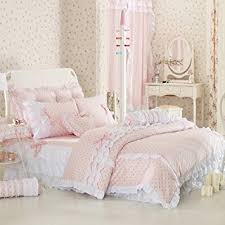 Girls Queen Size Bedding by Amazon Com Pink Polka Dot Bedding Sets Rustic Girls Duvet Cover