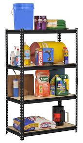 Heavy Duty Shelves by Amazon Com Edsal Ur 364blk Black Steel Industrial Shelving 4