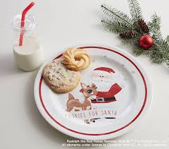 cookies for santa plate rudolph the nosed reindeer cookies for santa kit pottery