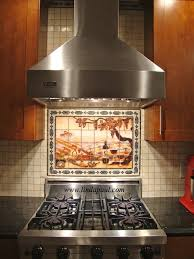Mexican Tile Backsplash Kitchen Kitchen Metal Mural Athena Mosaic Tile Trends Also Kitchen