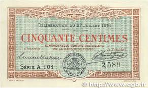 chambre de commerce chambery 50 centimes regionalism and miscellaneous chambéry 1916 jp