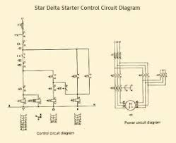 what is control circuit for star delta starter of a 3 phase motor