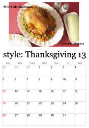 thanksgiving calendar to print calendar templates for