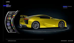 yellow lexus is lexus lfa online configurator launched and yes u0027passionate pink