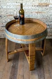 silver barrel side table barrel accent table wine barrel side table garner steel barrel